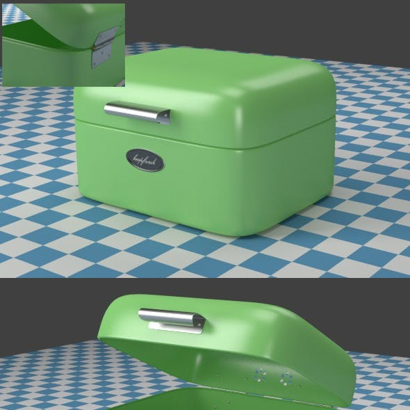 A small green Breadbox