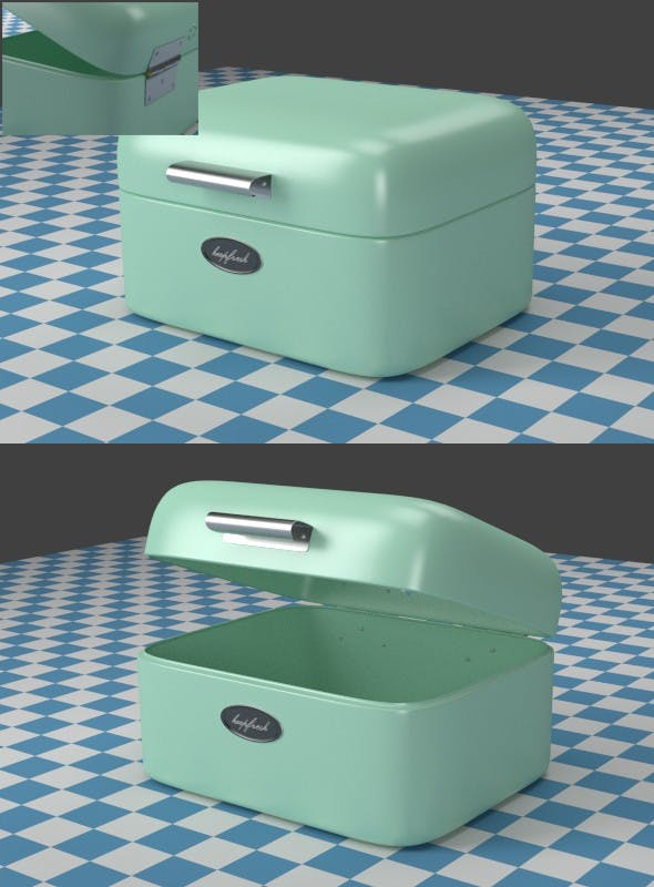 A small mint Breadbox - 3DOcean Item for Sale