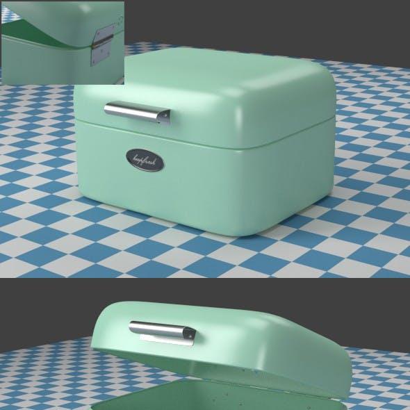 A small mint Breadbox