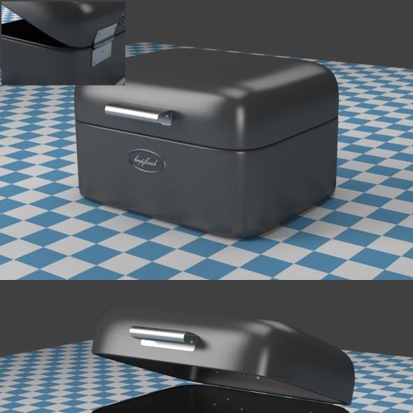 A small gray Breadbox