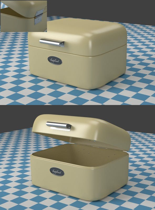 A small oldwhite Breadbox - 3DOcean Item for Sale