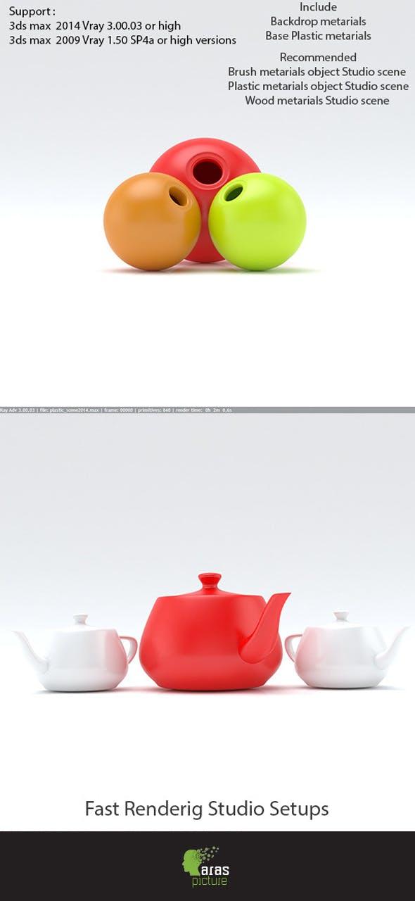 Studio lighting professional 3ds max vray - 3DOcean Item for Sale