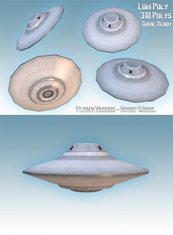 Flying Saucer - Sport Model - 3DOcean Item for Sale