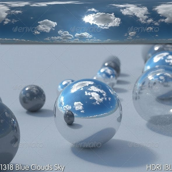 HDRI IBL 1318 Blue Clouds Sky