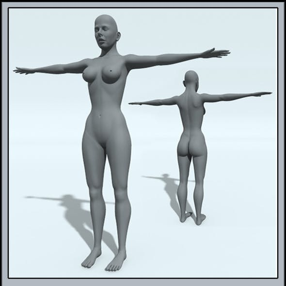Female: Base Mesh (High Poly)