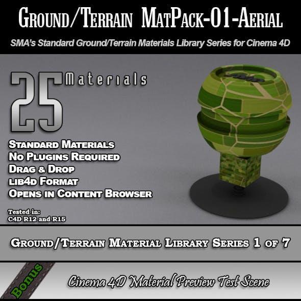 Standard Ground/Terrain MatPack-01-Aerial for C4D