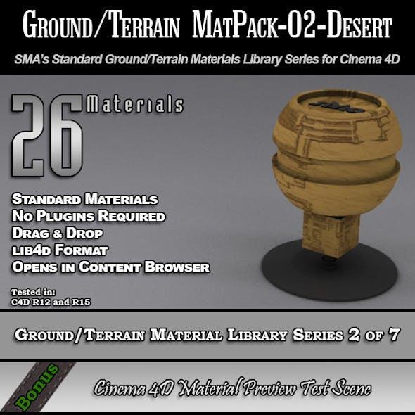 Standard Ground/Terrain MatPack-02-Desert for C4D