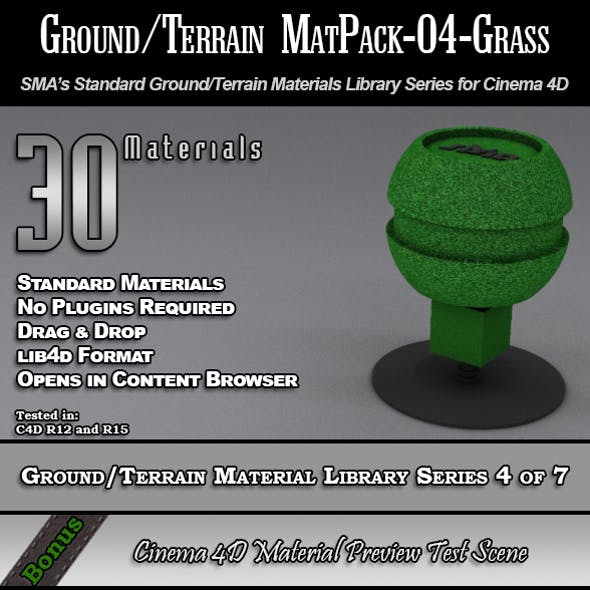 Standard Ground/Terrain MatPack-04-Grass for C4D