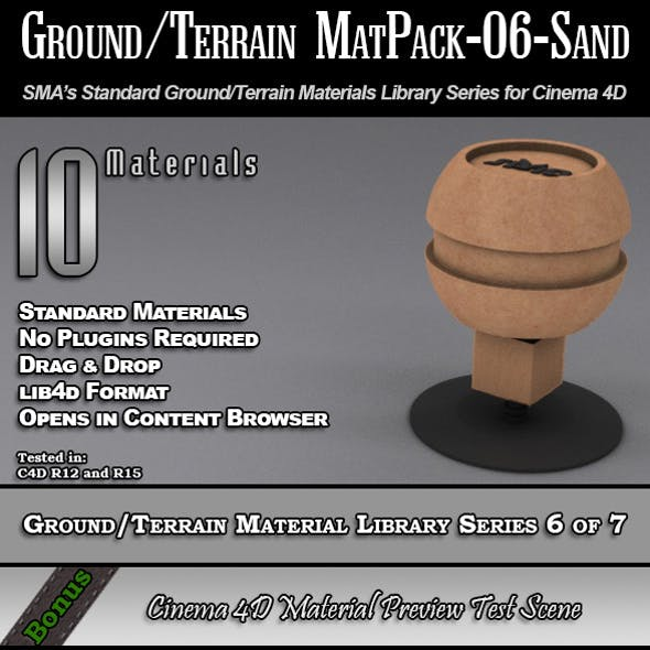Standard Ground/Terrain MatPack-06-Sand for C4D