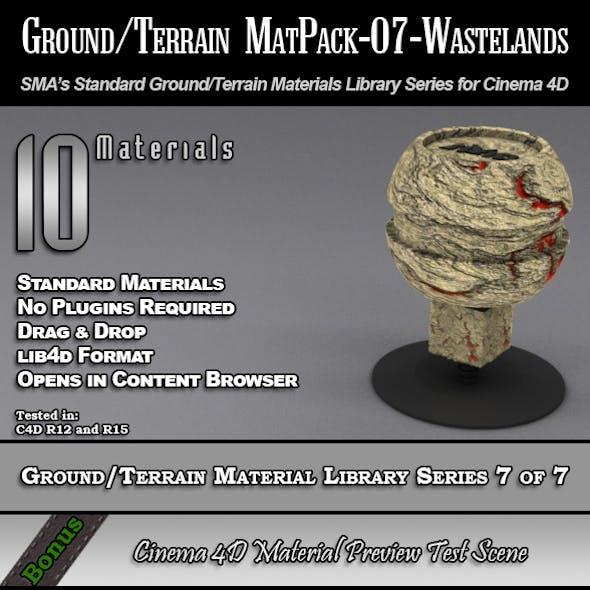 Standard Ground/Terrain MatPack-07-Wasteland [C4D]
