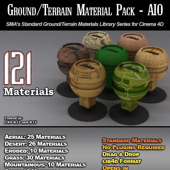 121 Standard Ground/Terrain Materials-AIO for C4D