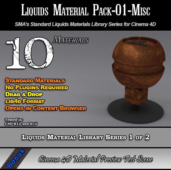 Standard Liquids Material Pack-01-Misc for C4D - 3DOcean Item for Sale
