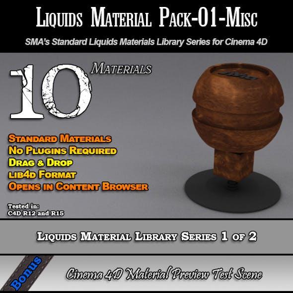 Standard Liquids Material Pack-01-Misc for C4D