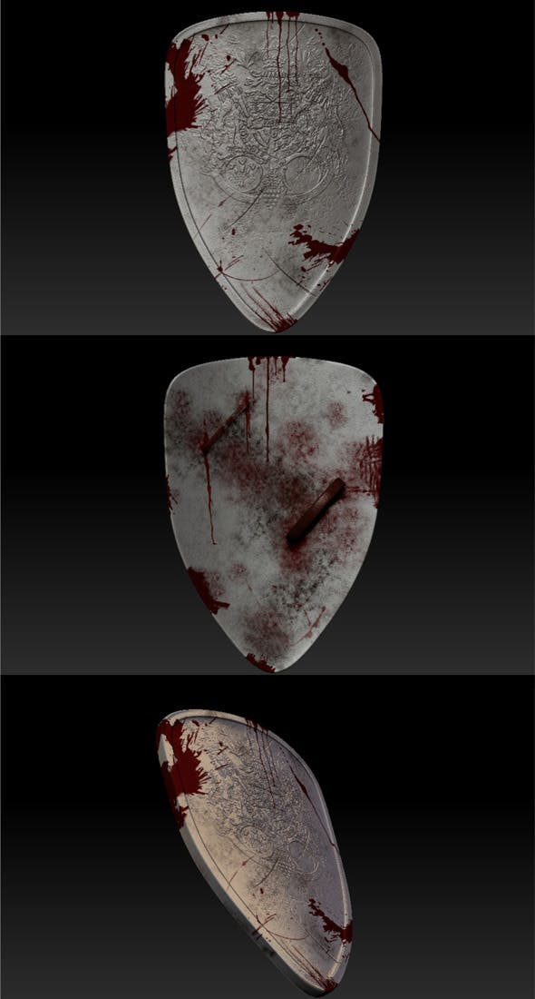 Metal Shield - 3DOcean Item for Sale