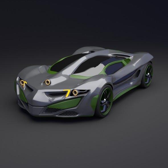 Rhinoster futuristic concept car - 3DOcean Item for Sale