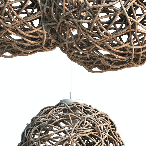Sphere Rattan Light