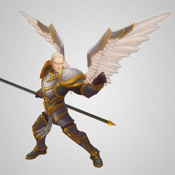 Low Poly Angel Male