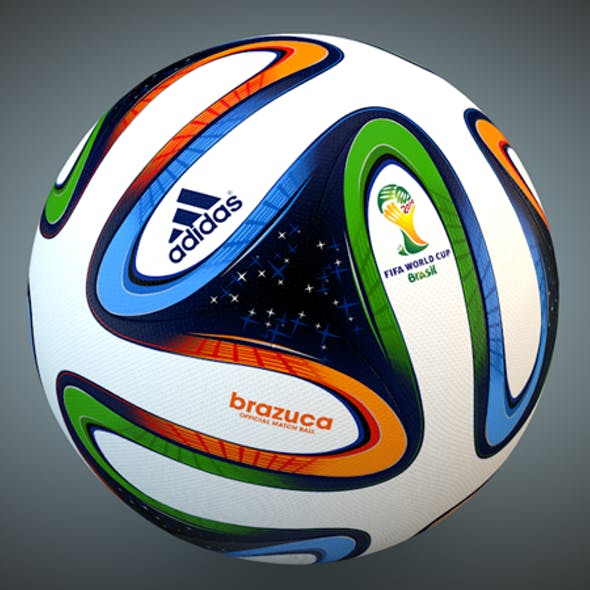 Brazuca Soccer Ball 3D Model