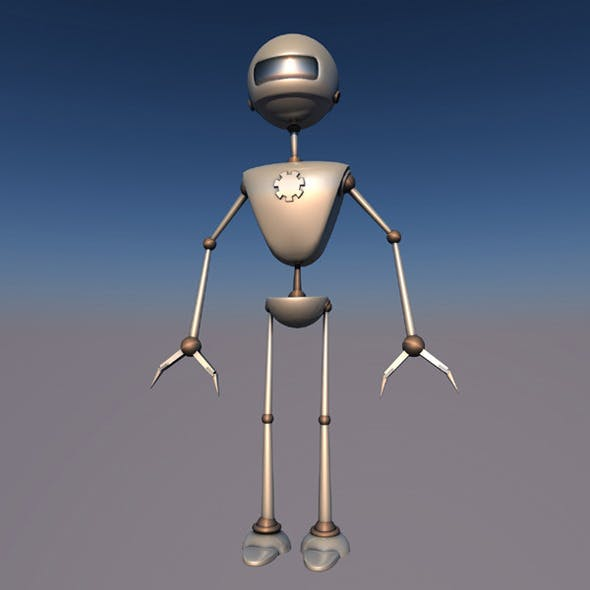 Robotic 3d character ( X-JV1.0 ) rigged alien droid