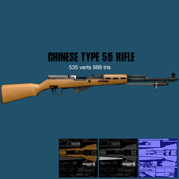 Chinese Type 56 Rifle - 3DOcean Item for Sale