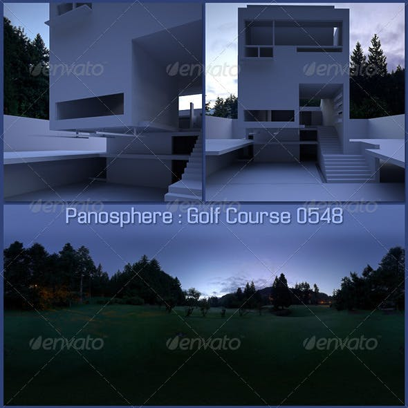 Panosphere HDRI -_- Golf Course 0548 - 3DOcean Item for Sale