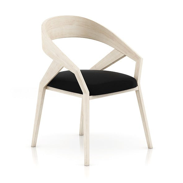 Wooden Chair with Pillow 2 - 3DOcean Item for Sale