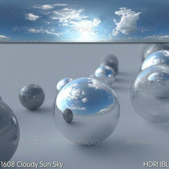 HDRI IBL 1608 Cloudy Sun