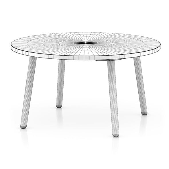 White Round Table - 3DOcean Item for Sale