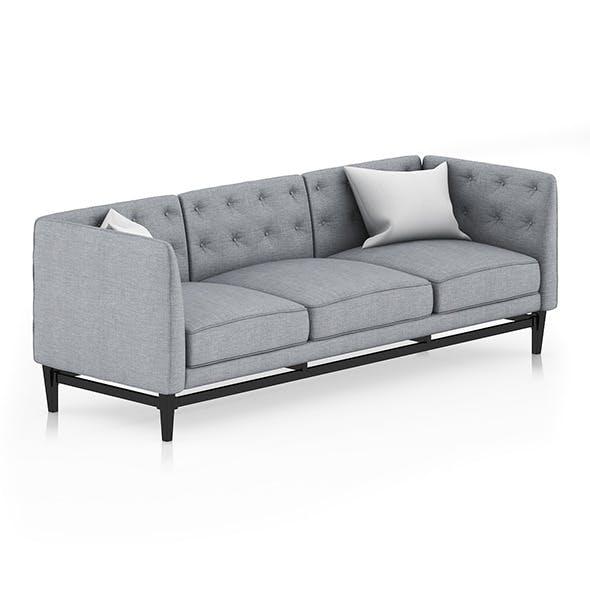 Grey Sofa with Pillows 2