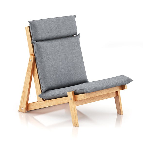 Grey Lounge Chair - 3DOcean Item for Sale