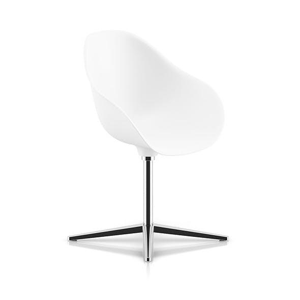 White Swivel Chair - 3DOcean Item for Sale