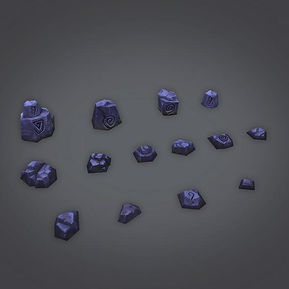 Low Poly Rock Set 01