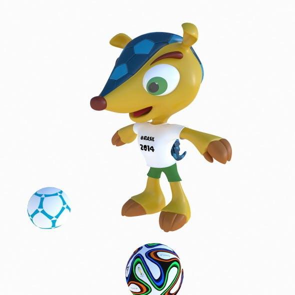 Fuleco the Armadillo Brasil - 3DOcean Item for Sale