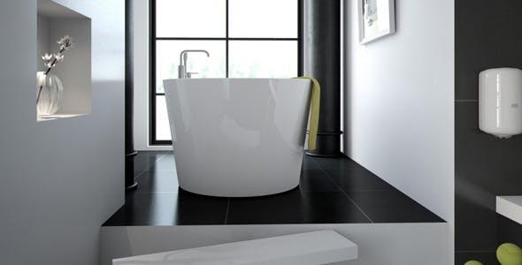 Scandinavian Bathroom scene HDRI C4D Vray - 3DOcean Item for Sale