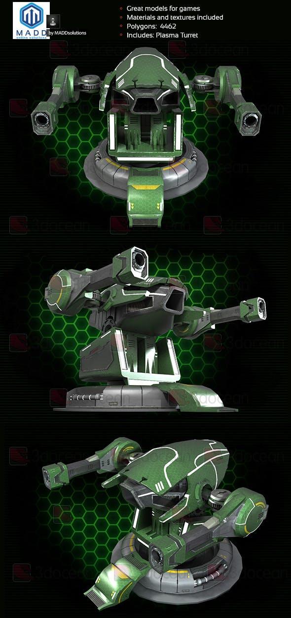 Plasma Cannon, Plasma Turret - 3DOcean Item for Sale