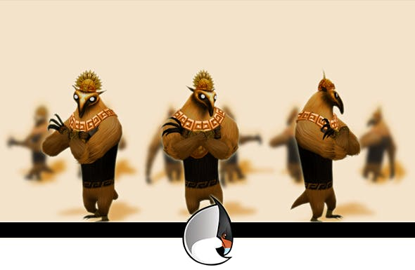 Anteater Low-Poly Character Pack - 3DOcean Item for Sale