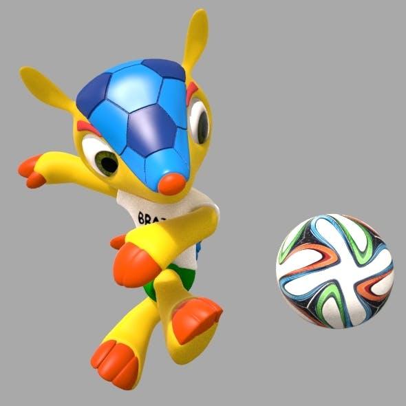 Fuleco, World Cup 2014 Mascot