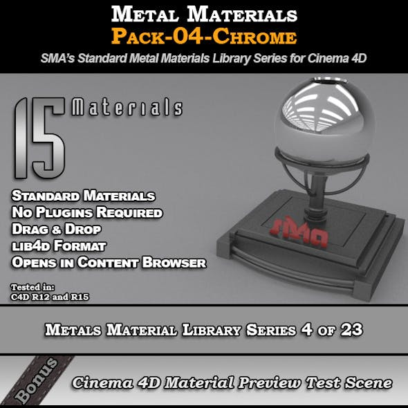 Metals Material Pack-04-Chrome for Cinema 4D