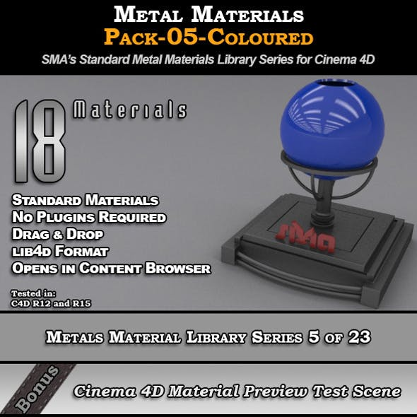 Metals Material Pack-05-Coloured for Cinema 4D