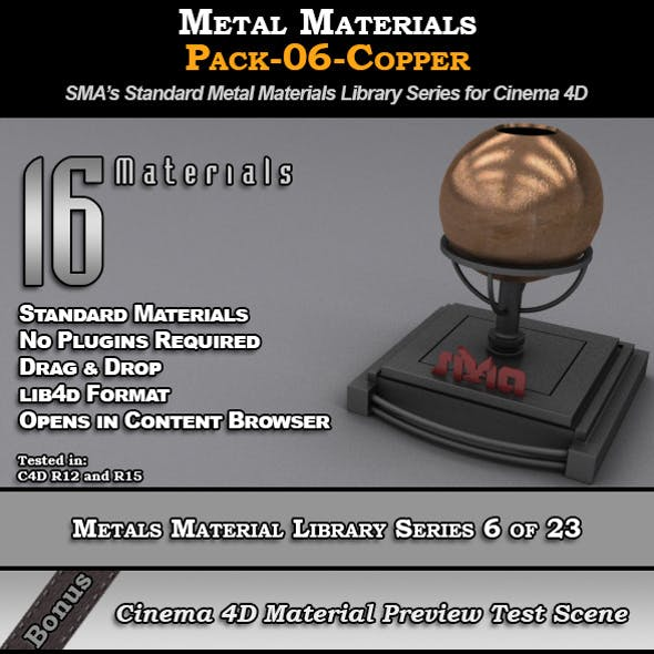Metals Material Pack-06-Copper for Cinema 4D