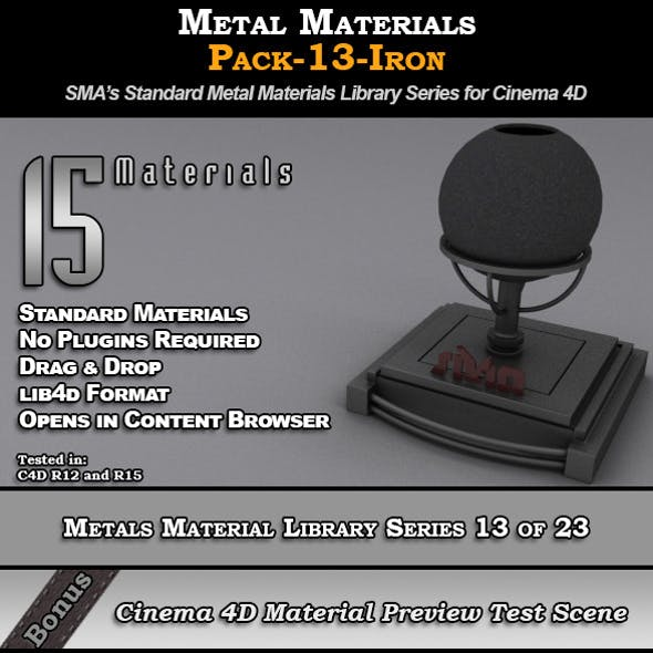 Metals Material Pack-13-Iron for Cinema 4D