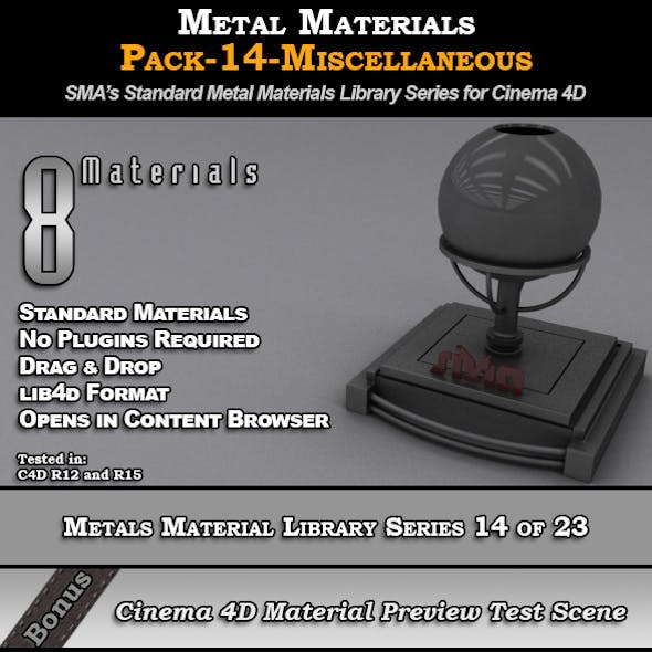 Metals Material Pack-14-Misc for Cinema 4D