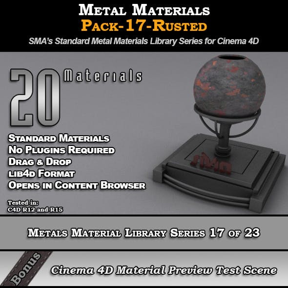 Metals Material Pack-17-Rusted for Cinema 4D