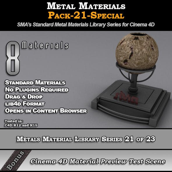Metals Material Pack-21-Special for Cinema 4D