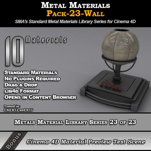 Metals Material Pack-23-Wall for Cinema 4D