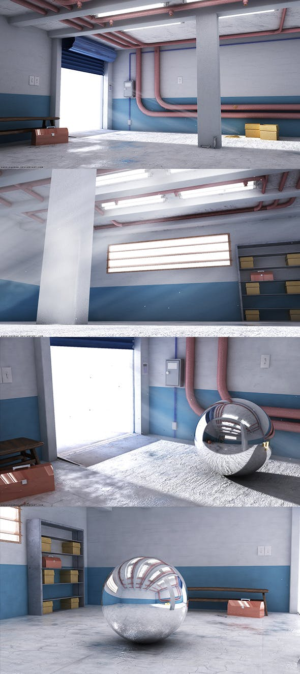 Vray Garage Render Setup - 3DOcean Item for Sale