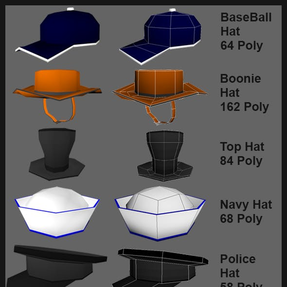 Extreme Low Poly Hats