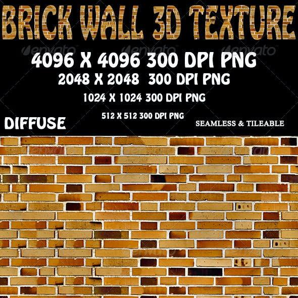 Brick Wall 3D Texture