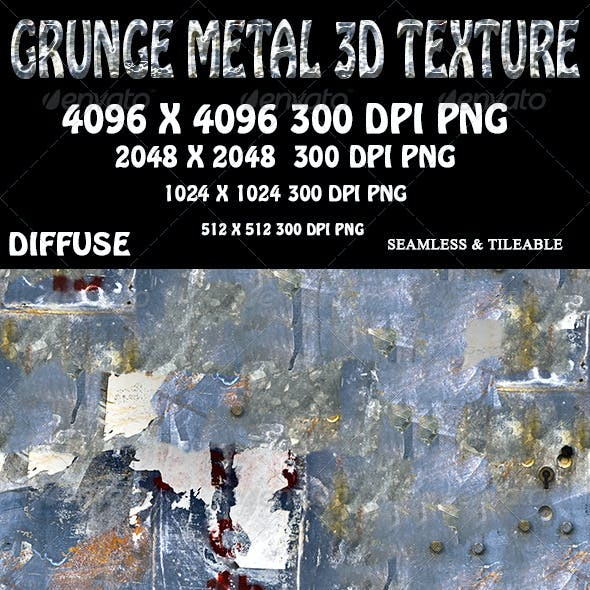 Grunge Metal 3D Texture