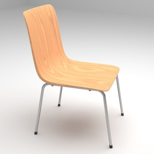 Plywood Chair with Metal Chair Legs